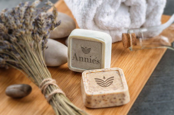 Anniés kosmetika - mýdlo s logem