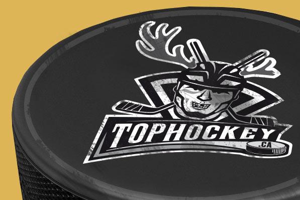 Logo Top Hockey - puk s logem