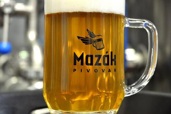 Logo Mazák - sklenice