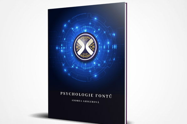 Psychologie fontů - logo na knize
