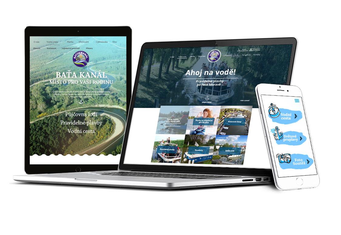 Baťův kanál - webdesign - ukázka grafického zpracování
